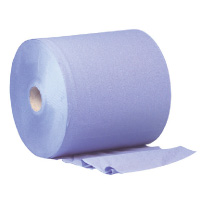 Floorstand-Forecourt-Roll-2ply-Blue
