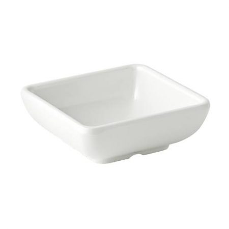 Melamine Shallow Sqaure Dish 3'' (7.5cm) 2.75oz (8cl) Case of 12