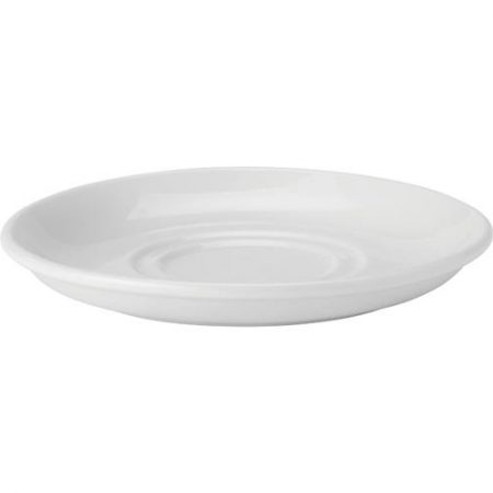 Pure White Double Well Saucer 6'' (15cm) Case of 6