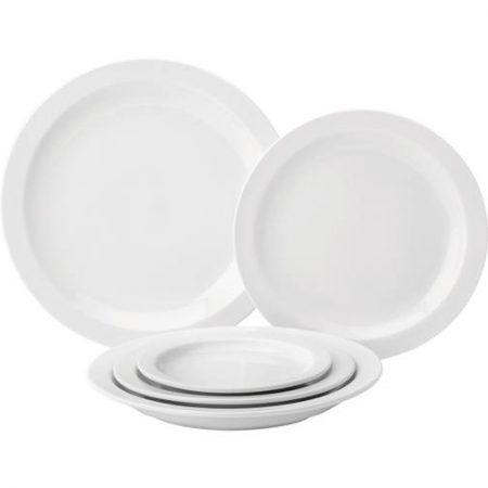 """Pure White Narrow Rim Plate 10.75"""" (27.3cm) Case of 6"""