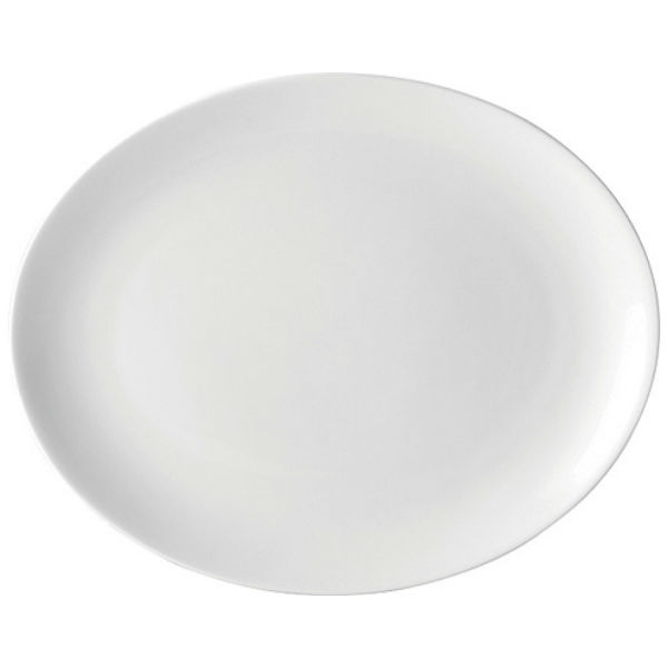 Pure White Oval Plate 14'' (35.5cm) Case of 6