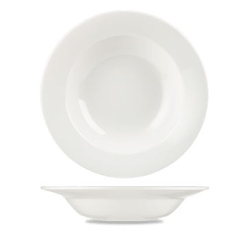 Churchill Alchemy White Rimmed Soup Bowl - 9.5 (24.5cm) 495ml (18oz) - 12