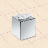 Cube Tissue Dispenser Chrome Finish