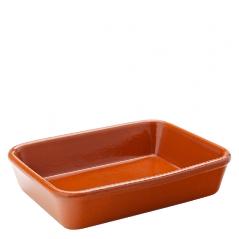 Estrella Terracotta Rectangular Dish 7.5 x 5.5'' (19 x 14cm) Case of 22