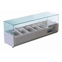 Polar Refrigerated Countertop Servery Prep Unit 5 Gastronorms