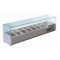Polar Refrigerated Countertop Servery Prep Unit 7 Gastronorms