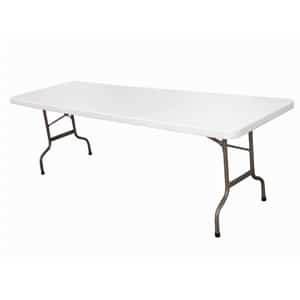 Centre Folding Table 8ft White