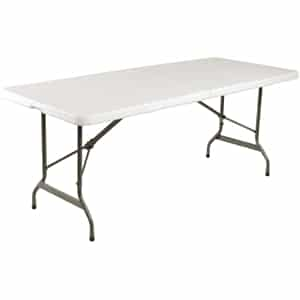 Centre Folding Utility Table 6ft White