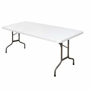 Foldaway Rectangular Utility Table 6ft