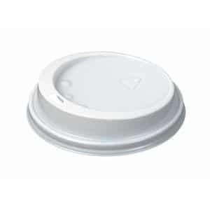 White Domed Enjoy Lids 12oz Pack 1000