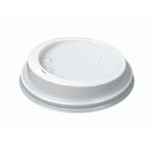 White Domed Enjoy Lids 8-9oz Pack 1000