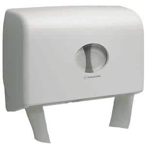 Aquarius Twin Mini Jumbo Toilet Roll Dispenser