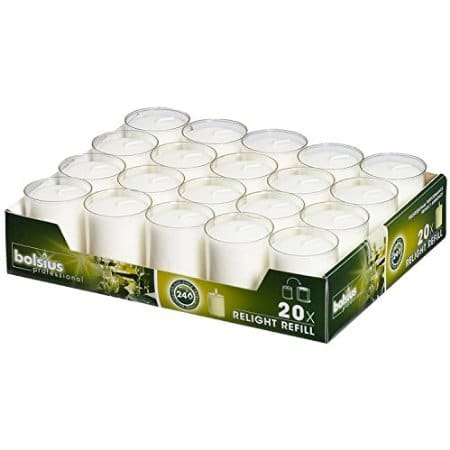 Relight Refill Candles Clear Pack 20