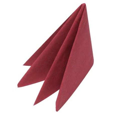 Swansoft Napkins Burgandy 40cm Feels Like Linen 500
