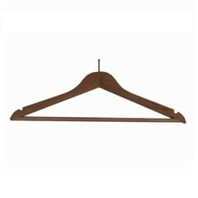 Wooden Security Coat Hanger Dark Wood