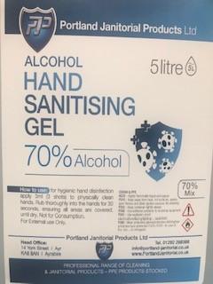 Hand Sanitiser Gel 5lt